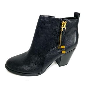Franco Sarto Diana Booties Black Leather Size 6